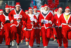 Santa Claus race-1 Stock Image