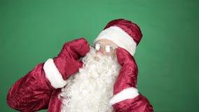 Santa Claus screams. stock footage