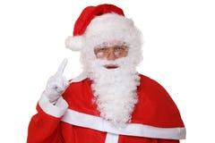 Santa Claus raising his hand Christmas portrait Stock Images