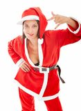 Santa claus rap and sexy Stock Photography
