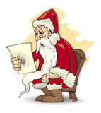 Santa claus read Royalty Free Stock Photos