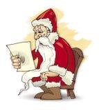 Santa claus read Royalty Free Stock Photos