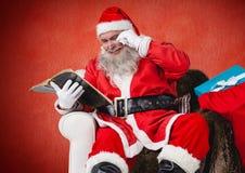 Santa claus reading bible Royalty Free Stock Photo