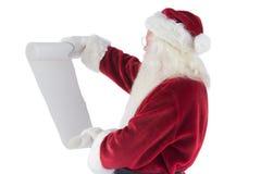 Santa Claus reads a list Stock Photos