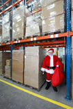 Santa Claus ready for Christmas Royalty Free Stock Images