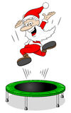 Santa claus on a rebounder Royalty Free Stock Photography