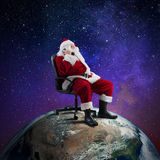 Santa Claus receives requests via telephone Royalty Free Stock Photo