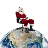 Santa Claus receives requests via telephone Royalty Free Stock Images