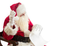 Santa Claus receives a wish list Stock Photo