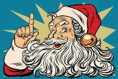 Santa Claus recuerda la Navidad está viniendo Imagenes de archivo