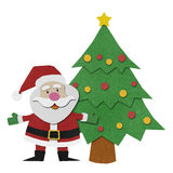Santa claus  recycled papercraft. Royalty Free Stock Photography