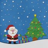 Santa claus  recycled papercraft. Stock Image
