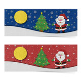 Santa claus recycled papercraft. Royalty Free Stock Image