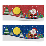 Santa claus recycled papercraft. Royalty Free Stock Photos