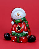 Santa Claus on a red background Royalty Free Stock Image