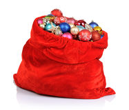 Santa Claus red bag with Christmas toys Royalty Free Stock Photos