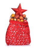 Santa Claus red bag with Christmas toys Stock Photo