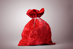 Santa Claus red bag full. File contains a path to isolation Royalty Free Stock Photo