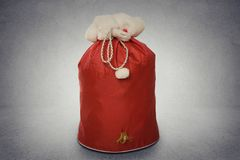 Santa Claus red bag full with gifts Stock Image