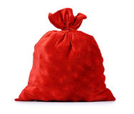 Santa Claus red bag full, on white background. File contains a path to isolation Royalty Free Stock Photography