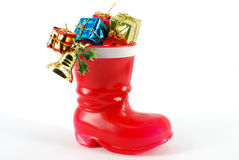 Santa Claus red boot Stock Image