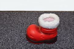 Santa Claus Red Boot Royalty Free Stock Images