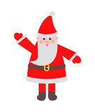 Santa Claus in Red Clothes with Raised Hand Toy Stock Photo