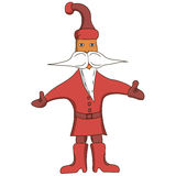 Santa Claus in red coat. On a white background Royalty Free Stock Images