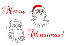 Santa Claus in red hat Stock Photo