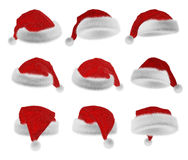 Santa Claus red hat collection Royalty Free Stock Photography