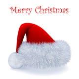 Santa Claus red hat. 3d illustration over white background vector illustration