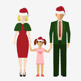 Santa Claus red hat vector illustration