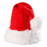 Santa Claus red hat isolated ,way in path. Santa Claus red hat isolated on white background,way in path Stock Images