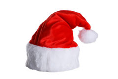 Santa Claus red hat isolated on white. Royalty Free Stock Image