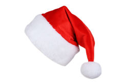 Santa Claus red hat isolated on white. Stock Photos