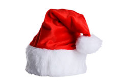 Santa Claus red hat isolated on white. Royalty Free Stock Photo