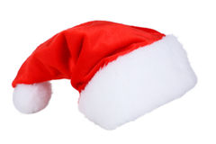 Santa Claus red hat isolated on white. Stock Image