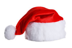 Santa Claus red hat isolated on white background Royalty Free Stock Images