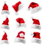 Santa Claus red hat. Isolated on white background Stock Photo