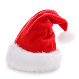 Santa Claus red hat isolated on white. Background Royalty Free Stock Photography