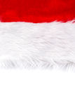 Santa Claus red hat isolated on white background Stock Images
