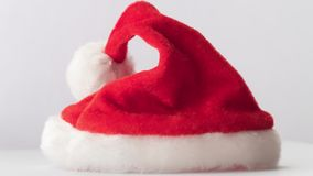 Santa Claus red hat stock video footage