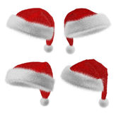 Santa Claus red hat set Stock Images