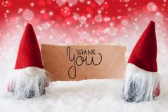 Santa Claus, Red Hat, Thank You, Red Background