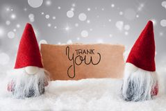 Santa Claus, Red Hat, Thank You, Gray Background