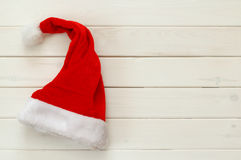 Santa claus red hat on white background Stock Photo