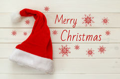 Santa claus red hat on white background Royalty Free Stock Photography