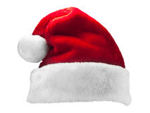 Santa Claus red hat  on white background Royalty Free Stock Photos