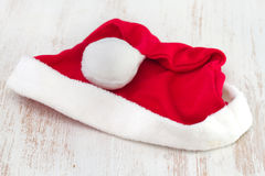 Santa Claus red hat on white background Stock Image