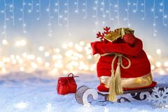 Free Santa Claus Red Sack Stock Images - 164329924